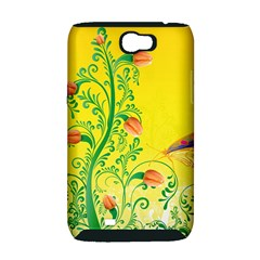 Whimsical Tulips Samsung Galaxy Note 2 Hardshell Case (PC+Silicone)