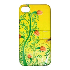 Whimsical Tulips Apple Iphone 4/4s Hardshell Case With Stand