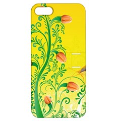 Whimsical Tulips Apple Iphone 5 Hardshell Case With Stand