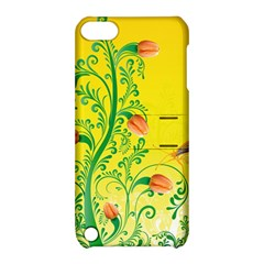 Whimsical Tulips Apple iPod Touch 5 Hardshell Case with Stand