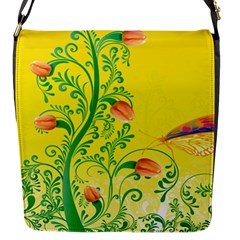 Whimsical Tulips Flap Closure Messenger Bag (small)