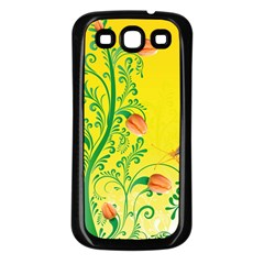 Whimsical Tulips Samsung Galaxy S3 Back Case (Black)