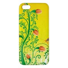 Whimsical Tulips iPhone 5S Premium Hardshell Case