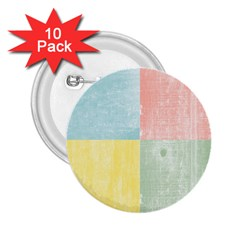 Pastel Textured Squares 2.25  Button (10 pack)