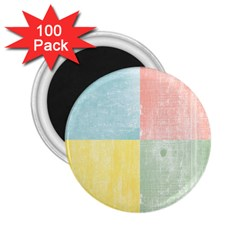 Pastel Textured Squares 2 25  Button Magnet (100 Pack)