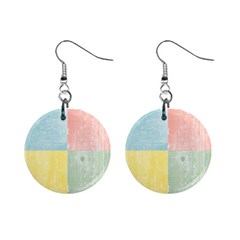 Pastel Textured Squares Mini Button Earrings
