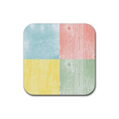 Pastel Textured Squares Drink Coaster (Square)