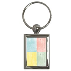 Pastel Textured Squares Key Chain (Rectangle)