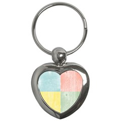 Pastel Textured Squares Key Chain (Heart)