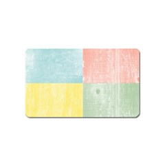 Pastel Textured Squares Magnet (Name Card)