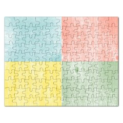 Pastel Textured Squares Jigsaw Puzzle (Rectangle)