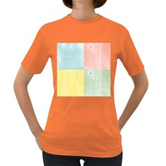Pastel Textured Squares Women s T Shirt (colored)