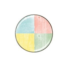 Pastel Textured Squares Golf Ball Marker 10 Pack (for Hat Clip)