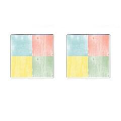 Pastel Textured Squares Cufflinks (square)
