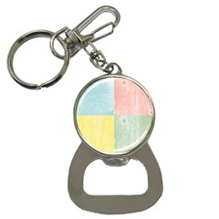 Pastel Textured Squares Bottle Opener Key Chain