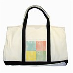Pastel Textured Squares Two Toned Tote Bag Front