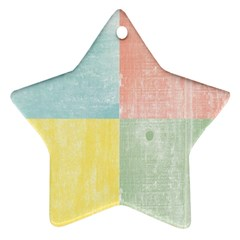 Pastel Textured Squares Star Ornament (two Sides)