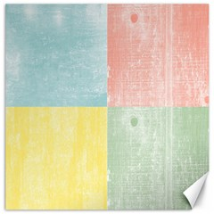 Pastel Textured Squares Canvas 12  x 12  (Unframed)