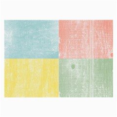 Pastel Textured Squares Glasses Cloth (large, Two Sided)