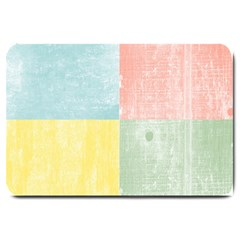 Pastel Textured Squares Large Door Mat
