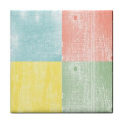 Pastel Textured Squares Face Towel