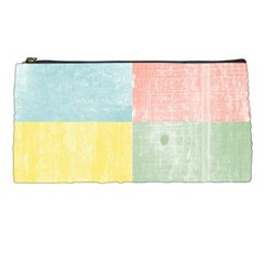 Pastel Textured Squares Pencil Case