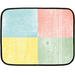 Pastel Textured Squares Mini Fleece Blanket (Two Sided)