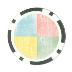 Pastel Textured Squares Poker Chip (10 Pack)