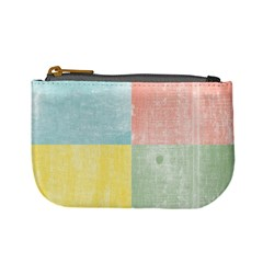 Pastel Textured Squares Coin Change Purse