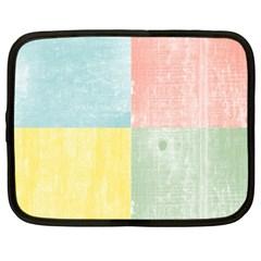 Pastel Textured Squares Netbook Sleeve (XL)