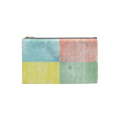 Pastel Textured Squares Cosmetic Bag (Small)