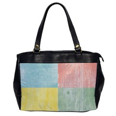 Pastel Textured Squares Oversize Office Handbag (One Side)