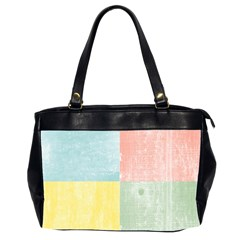 Pastel Textured Squares Oversize Office Handbag (two Sides)
