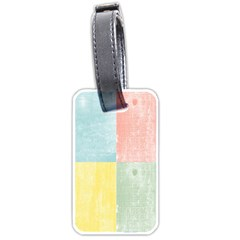 Pastel Textured Squares Luggage Tag (Two Sides)