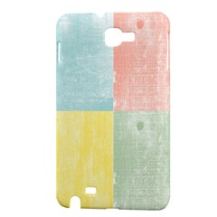Pastel Textured Squares Samsung Galaxy Note 1 Hardshell Case