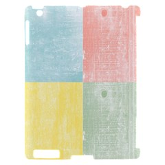 Pastel Textured Squares Apple iPad 2 Hardshell Case (Compatible with Smart Cover)