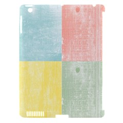 Pastel Textured Squares Apple Ipad 3/4 Hardshell Case (compatible With Smart Cover)