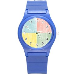 Pastel Textured Squares Plastic Sport Watch (Small)