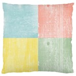 Pastel Textured Squares Large Cushion Case (Single Sided)  Front