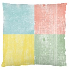 Pastel Textured Squares Large Cushion Case (Two Sided)