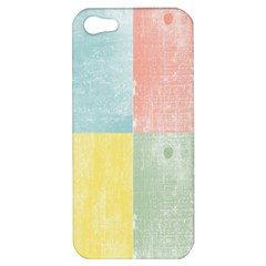 Pastel Textured Squares Apple Iphone 5 Hardshell Case