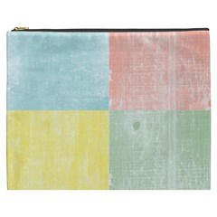 Pastel Textured Squares Cosmetic Bag (XXXL)