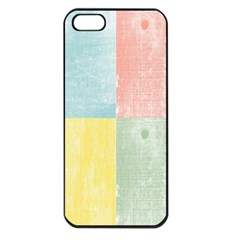 Pastel Textured Squares Apple Iphone 5 Seamless Case (black)