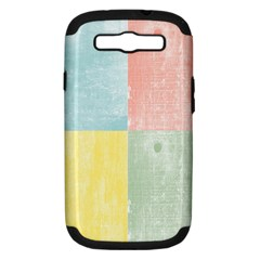 Pastel Textured Squares Samsung Galaxy S Iii Hardshell Case (pc+silicone)