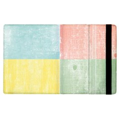 Pastel Textured Squares Apple Ipad 3/4 Flip Case