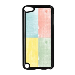 Pastel Textured Squares Apple iPod Touch 5 Case (Black)