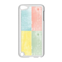 Pastel Textured Squares Apple iPod Touch 5 Case (White)