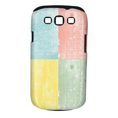 Pastel Textured Squares Samsung Galaxy S III Classic Hardshell Case (PC+Silicone)