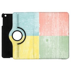 Pastel Textured Squares Apple iPad Mini Flip 360 Case