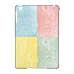Pastel Textured Squares Apple iPad Mini Hardshell Case (Compatible with Smart Cover)